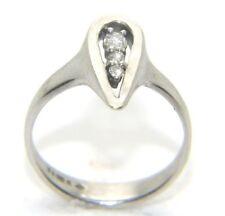 Women's Ladies 9ct 9carat white gold Three stone diamond ring UK Size L ½