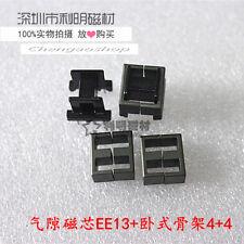5set EE13 4+4pins Ferrite Cores bobbin,transformer core,inductor coil #Q1333 ZX