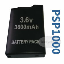 3.6 V 3600 mAh Mega Power Battery Black & Back Cover for Sony PSP 1000