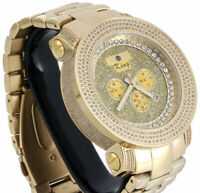 Mens New Techno Grill Diamond Watch Joe Rodeo 50mm Crushed Illusion Dial 3.50 CT