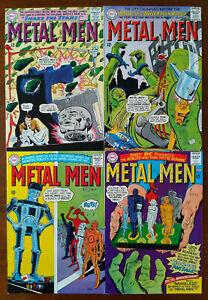 Metal Men #12 13 15 & 16 - Lot Z-1 Missile Men Skyscraper Robot For Sale - 1965