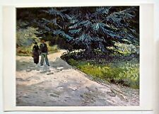 Van Gogh Poster Reprint Public Garden at Arles Offset Lithograph Unsigned 16x11