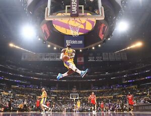 Lebron James Reverse Dunk Poster (8x10) Los Angeles Lakers Kobe Tribute Dunk 1