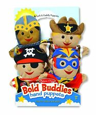 BOLD BUDDIES HAND PUPPETS  #9087 ~ Free Ship/USA ~  Melissa & and Doug