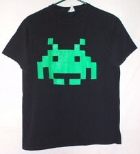 Atari Taito Space Invaders T Shirt Size M Video Game Green Alien Character