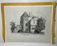 "RARE Dick Van Den Hoogen Lithograph Drawing Print Calgary ""Loughed House"" RARE"
