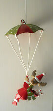 Parachute Moose Christmas Ornament Red Green White
