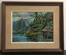 """Waikane"" HI,Original oil painting Signed by Jeanne Lopes in 1976"