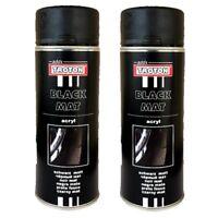 1K Acryllack 2 x 400ml Schwarz Matt RAL9005 Lack Spray Sprühlack Dose Troton