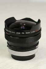 Canon FD 15mm F2.8 Fish eye SLR Lens Film - Excellent Condition
