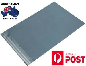 10 X STRONG GREY PLASTIC POLY BAGS MAILING POSTAL SELF SEAL