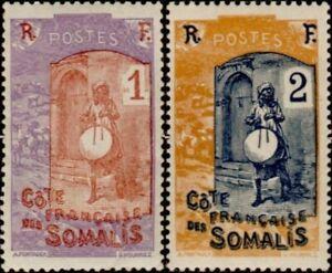 EBS French Somaliland Côte française des Somalis 1915 Blind Drummer 83-84 MNH**