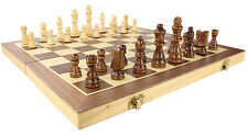 Wooden Chess Set - Folding Game Board doubles as Travel Case by bogo Brands
