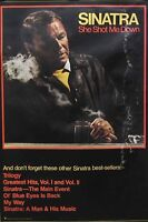 Frank Sinatra 1981 She Shot Me Down Promo Poster Original