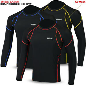 Mens Compression Armour Base Layer Top Full Long Sleeve Gym Sports Shirt DBXGEAR