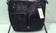 NWT Franco Sarto Satchel Handbag Black w/Silver Tone Hdwe MSRP $89  (LB002K)