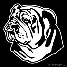 BULLDOG ENGLISH AMERICAN DOG PORTRAIT DECAL-STICKER-NEW
