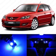 6 x Ultra Blue LED Interior Lights Package For 2004 - 2009 Mazda 3 MS3