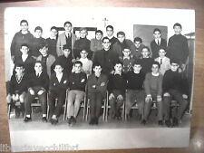 Vecchia foto bn di scolaresca SALERNO scuola elementare media alunni marzo 1965