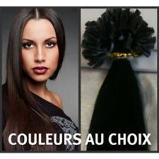 50 Extensions De Cheveux Pose A Chaud 100% Naturels Noir AAA