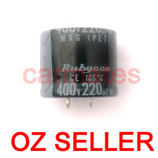 Capacitor 220uf 400V 105°C 30X25mm for LCD Monitor Screen Rubycon computer TV OZ