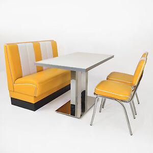 American Dinerbank Viber  Set gelb-weiß, Fifties-Sixties Retro