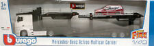 Mercedes Actros 2545 Bisarca White W/ Ford Focus 1:43 Model BBURAGO