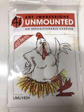 Art Impressions Unmounted Rubber Stamps Bird Brains Umu1834 Birdie