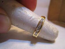 set in Yellow gold .30 ctw Wedding /Anniversary ring 6 Princess Cut Diamonds