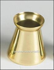 "2"" Inch Socket Brass Followers Two in a Case Lot Catholic Church Candle Topper"