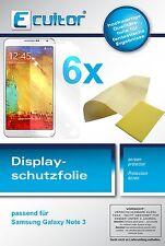 6x Samsung Galaxy Note 3 Protector de Pantalla protectores transparente