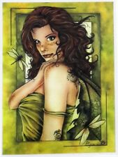 RARE DRAGONFLY FAIRY FAERIE Fantasy STICKER/VINYL DECAL  Marjolein Gulinski
