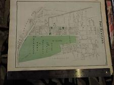 Original 1873 Beers MAP BROOKLYN KINGS COUNTY BAY RIDGE  -  FORT HAMILTON NICE !