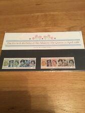 Royal Mail, Her Majesty's Sixtieth Birthday 1986  Mint Stamps