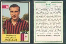 R@R@ FIGURINA CALCIATORI MIRA 1965/66*MILAN, ANGELILLO -NEW,EDICOLA,PERFECT