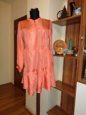 DAY BIRGER ET MIKKELSEN SILK LIGHTWEIGHT FLARE RUFFLE TUNIC EXTRA SHORT DRESS-36