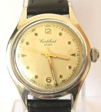 "VINTAGE MILITARY SWISS MECHANICAL MEN'S WATCH""CORTEBERT SPORT""ALL STEEL # 606"