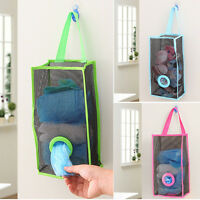 Kitchen Breathable Mesh Hanging Garbage Bag Storage Packing Shopping Bags Pouch