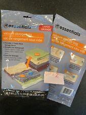"2 Essentials Large 17.5"" x 27.5"" Airtight And Waterproof Vacuum Storage Bag Lot"