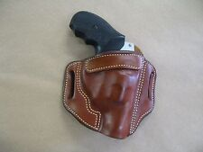 Kimber K6S Revolver Leather 2 Slot Molded Pancake Belt Holster CCW TAN RH