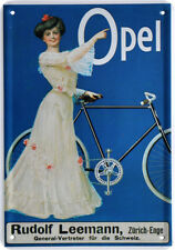 Opel Fahrrad Nostalgie Reklame Blechschild Postkarte Blechkarte PKM 196
