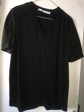 Other Stories black top leather sleeves  size S oversize