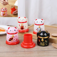 Toothpick Holder box Chinese Lucky Feng shui Fortune Cat Home DecorationJC№r