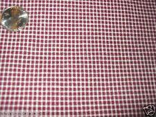 "2 yds 54"" Burgandy and off white-muroon- mini check plaid woven cotton USA---*"