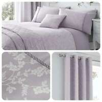 Serene EBONY Mauve Purple Floral Jacquard Traditional Bedding & Accessories