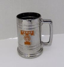 University of Texas Longhorns Glass Stein Cup Mug With Silver Overlay