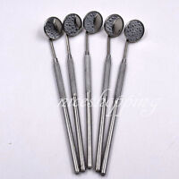 5 Pcs Dental Surgical Orthodontic Stainless Steel Mouth Plain Mirror Handles New