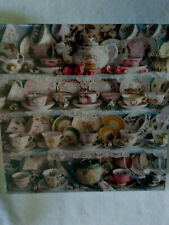 SPRINGBOK Jigsaw Puzzle TEATIME - CUP & SAUCER COLLECTION DISPLAY  #
