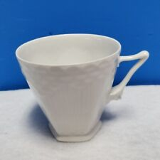 "Royal Copenhagen Denmark white Full Lace 069 pattern cup Only 2-3/4"" tall"