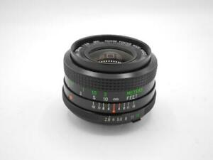 Vivitar 28mm F/2.8 Close Focus Wide Angle Lens for MC Minolta Mount 35mm Cameras